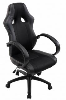 XL Bürostuhl 136 kg belastbar schwarz Kunstleder Chefsessel schwere Personen
