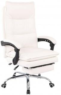 XL Bürostuhl 136 kg belastbar weiß Kunstleder Chefsessel Computerstuhl Drehstuhl