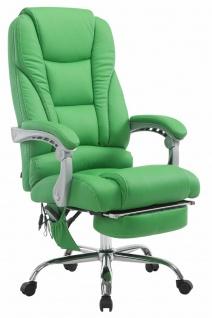 XXL Bürostuhl 150 kg belastbar grün Kunstleder Chefsessel Massagefunktion NEU