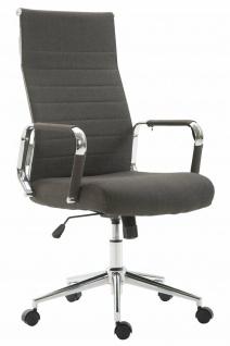 Bürostuhl 136 kg belastbar dunkelgrau Stoffbezug Chefsessel modern design stabil
