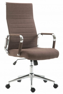 Bürostuhl bis 136 kg belastbar braun Stoffbezug Chefsessel modern design stabil
