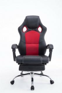 Chefsessel 115 kg belastbar schwarz rot Bürostuhl Drehstuhl Gaming Zocker Gamer