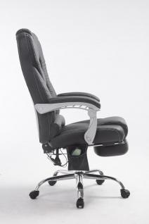 XXL Bürostuhl 150 kg belastbar schwarz Kunstleder Chefsessel Massagefunktion - Vorschau 3