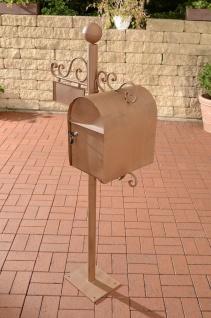 Briefkasten Eisen braun Standbriefkasten Zeitungsfach Postkasen antik Nostalgie