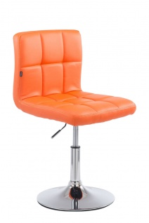 Lounger Kunstleder orange Loungesessel Barhocker Esszimmerstuhl modern design