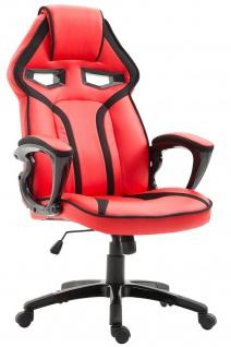 Bürostuhl 115 kg belastbar rot Kunstleder Chefsessel sportlich modern design