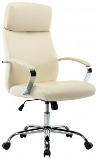 XL Chefsessel 136 kg belastbar creme Kunstleder Bürostuhl modern design NEU