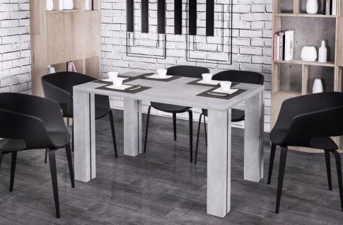 moderner Esstisch 130-175 Beton Esszimmertisch Küche preiswert günstig Auszug