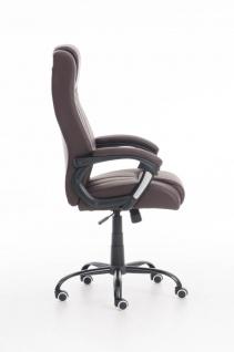 XXL Bürostuhl 150 kg belastbar braun Kunstleder Chefsessel schwere Personen - Vorschau 3