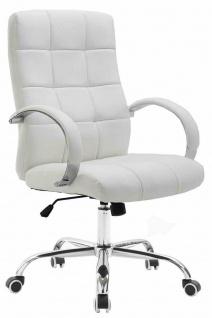 Bürostuhl bis 120 kg belastbar Kunstleder weiß Chefsessel hochwertig klassisch
