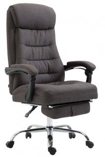 Chefsessel belastbar 136 kg Stoffbezug dunkelgrau Bürostuhl klassisch Fußablage