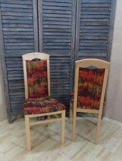 2er-Set Esszimmerstuhl massivholz Buche rot terra Stuhlset Stühle modern design