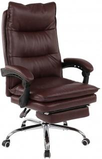 XL Bürostuhl 136 kg belastbar bordeauxrot Kunstleder Chefsessel Drehstuhl stabil