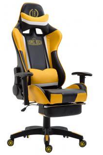 XL Chefsessel schwarz gelb Kunstleder Bürostuhl modern design hochwertig stabil
