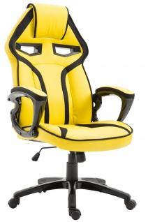 Bürostuhl 115kg belastbar gelb Kunstleder Chefsessel sportlich modern design