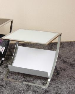Beistelltisch weiß Tisch Glastisch Couchtisch Glas Beitisch modern design neu