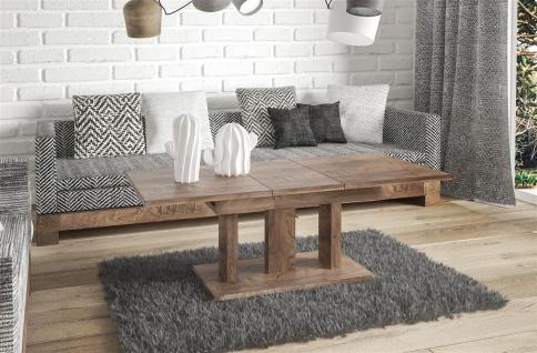 Couchtisch Wohnzimmer ausziehbar Auszug modern design nußbaum edler Sofatisch