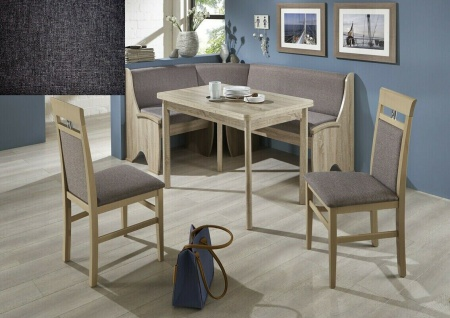 Eckbankgruppe 167x127 Eiche Sonoma / Stoff grau Essecke Sitzecke Tischgruppe