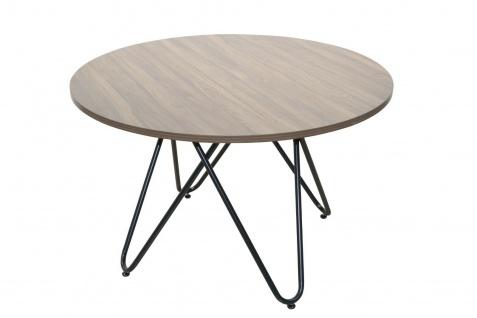 moderner Esstisch braun/schwarz Ø120 cm rund Esszimmertisch Küchentisch design