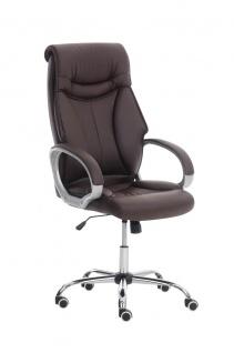 XXL Bürostuhl braun 150 kg belastbar Chefsessel Kunstleder stabil hochwertig