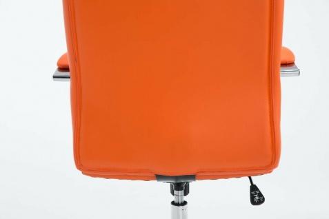 Drehstuhl bis 120 kg belastbar Kunstleder orange Computerstuhl Schreibtischstuhl - Vorschau 4