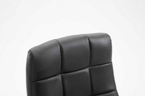 Drehstuhl 120 kg belastbar Kunstleder schwarz Computerstuhl Schreibtischstuhl - Vorschau 5
