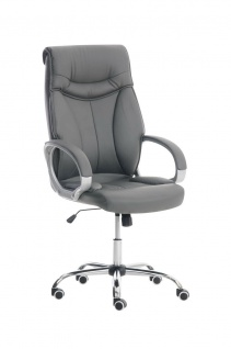 XXL Bürostuhl grau 150 kg belastbar Chefsessel Kunstleder stabil hochwertig