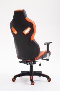 Bürostuhl 150 kg belastbar schwarz orange Kunstleder Chefsessel Zocker Gaming - Vorschau 4