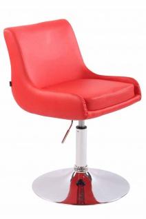 2x Esszimmerstühle rot Kunstleder Stuhlset Küche drehbar design modern Tellerfuß