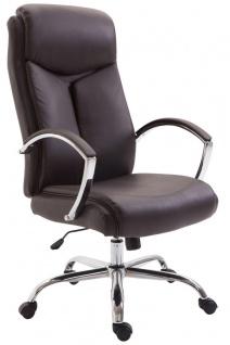 XL Chefsessel 140 kg belastbar Kunstleder braun Bürostuhl hochwertig stabil