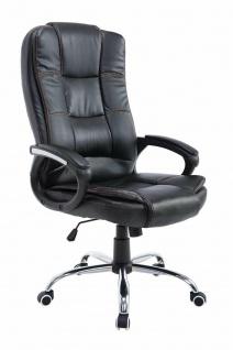 Bürostuhl schwarz 120 kg belastbar Chefsessel Kunstleder Drehstuhl stabil robust