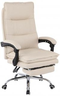 Bürostuhl 136 kg belastbar creme Stoffbezug Chefsessel Drehstuhl stabil robust