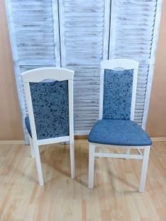 2 x Stühle weiß aquamarin Esszimmerstühle Stuhlset modern design günstig edel