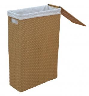 Raumspar beige Wäschekorb Wäschesammler Wäschetruhe Nischen Wäschebox günstig