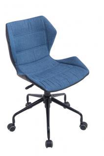 Bürostuhl blau Stoffbezug Bürosessel robust günstig preiswert design Chefsessel