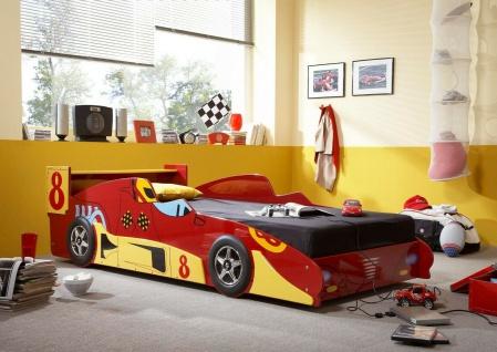 Racing Autobett 90 x 20 cm Kinderbett Jugendbett Rennwagen Juniorbett Spielbett