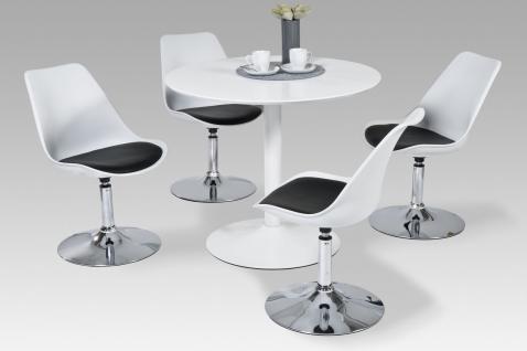 moderner Esstisch Küchentisch neu mdf Esszimmertisch toller Tisch weiß rund
