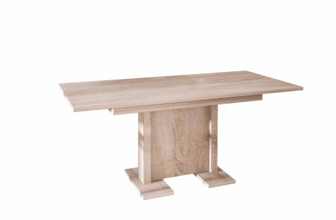 hochwertiger Säulentisch Sonoma ausziehbar Esstisch Auszug modern günstig design