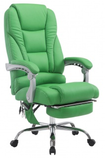 XXL Bürostuhl 150 kg belastbar grün Kunstleder Chefsessel Massagefunktion