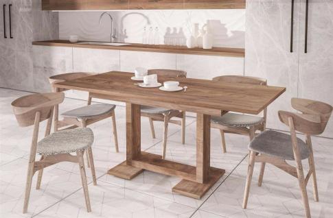 design Esstisch nussbaum 130-210 ausziehbar Auszugtisch Küche günstig modern