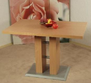 Säulentisch Buche natur 110 x 70 cm Esstisch Esszimmertisch Küchentisch modern