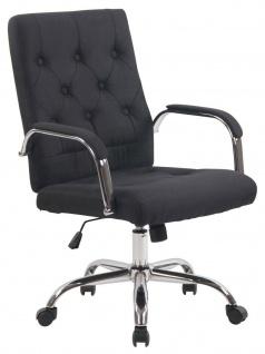 moderner Bürostuhl schwarz Drehstuhl design Chefsessel Stoffbezug Arbeitshocker