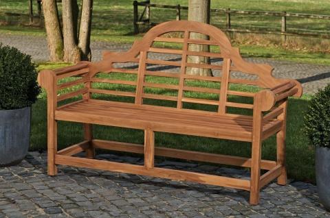 Teakbank 180 cm Gartenbank massivholz Terrasse Balkon Holzbank Sitzbank Flur