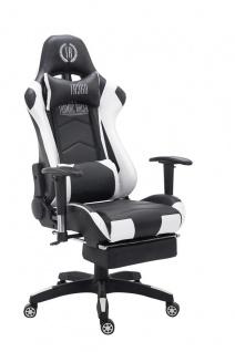 XXL Bürostuhl 150 kg belastbar schwarz weiß Kunstleder Chefsessel Zocker Gamer