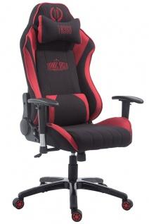 Chefsessel 150 kg belastbar schwarz rot Stoff Bürostuhl Gaming Zocker Gamer