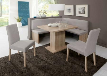 Eckbankgruppe Sonoma Eiche / silber grau Tischgruppe Essgruppe Eckbankgarnitur