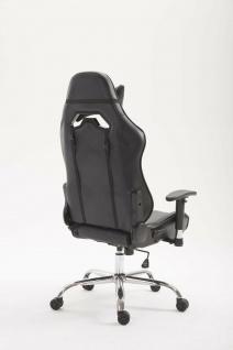 Chefsessel 150kg belastbar schwarz Kunstleder Bürostuhl Zocker Gamer Gaming - Vorschau 4