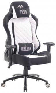 XL Bürostuhl 150 kg belastbar schwarz weiß Stoffbezug Chefsessel Gaming Zocker