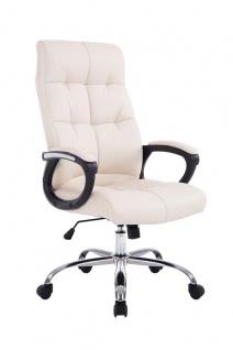 Bürostuhl 160 kg belastbar Kunstleder creme Chefsessel für schwere Personen
