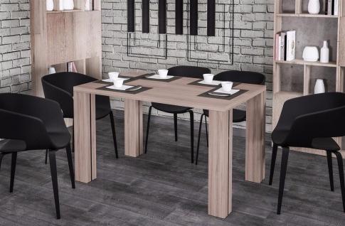 moderner Esstisch 80-215 Auszug Wildeiche Esszimmertisch Küche preiswert günstig